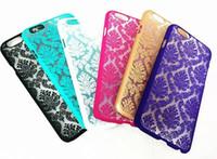Wholesale Vintage Cases For Iphone 5c - Mandala Vintage Damask Flower Palace Hard PC Case for Iphone 7 6S 6 Plus 5 5C SE 5S Translucent Matte Datura Henna Phone Skin Cover 100pcs