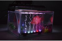 31CM colorido 12 LED Aquarium Fish Tank LED Light Air Stone Bubble Água submersa Underwater Air Curtain LED Lamp Bar Strip Iluminação