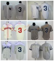 Wholesale Grey Pinstripe - New York Yankees 3 Babe Ruth Jersey Cooperstown 1929 Retro Babe Ruth Baseball Jerseys White Pinstripe Grey with 75th Hall of Fame Patch