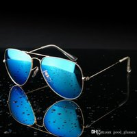 Wholesale Gold Mirrored Aviator Sunglasses - Buy Pilot Sunglasses Metal Gold Aviator Men Women Brand Sun Glasses Brand Designer Mirrored Cool Gafas de sol Ladies with cases Online Sale