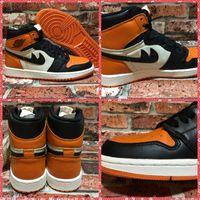 Wholesale Mens Basketball Shoe Brand - mens retro 1 high shattered backboard basketball sport shoes man brand training sneakers 40-46 free shipping