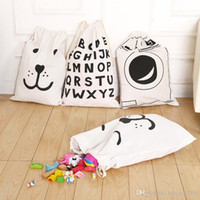 Wholesale patterned bedding sets for sale - Storage Bag Canvas Large Capacity Kid Room Toy Sundries Pattern Sack Durable Handbag Home Furnishing Tool yq D R