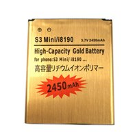 Wholesale S7562 Batteries - 1PCS S3 i8190 2450mAh Original High quality Gold battery For Samsung For Galaxy S3 mini I8190 GT-i8190 S7562 Ace 2 GT I8160