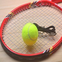 Wholesale Lining Racquets - Wholesale- Tennis Training Ball Durable Belt Line Fivepcs  Set Yellow Nature Rubber Accesory Outdoor Sport For Adult Racquet Entertainment