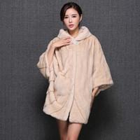 Wholesale Real Mink Fur Coats Women - Wholesale-Fur Story 16053 Luxury 2016 Top Grade Winter Women's Real Coat with Fur Hood Natural Fur Coat Cocoon Style