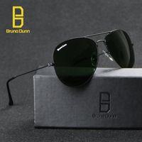 Wholesale Man Aviator Coat - Wholesale UV400 men ray sunglasses , bain women's band sunglasses coating sun glasses 58mm glass lenses Bruno dunn 2016 aviator