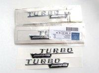 turbo-gebühren großhandel-Hohe qualität ABS 3D Aufkleber auto körper stick Für Mercedes Benz turbo AMG lade TURBO dekoration 2 teile / satz