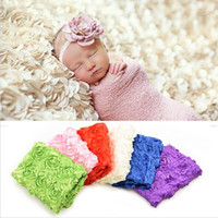 Wholesale Blue Photography Backdrops - Baby Photography Photo Props 3D Rose Flower Backdrop Beanbag Blanket Rug Mat Purple Blue Pink White Rose Red Photo Prop Blanket Hot SV021795