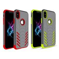 Wholesale Bat Case Iphone - For iphone x Case 2in1 Bat Armor Hybrid Soft TPU Rugged Shockproof Back Cover Phone Cases for iphone x 8 8plus