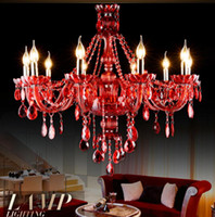 Free Shipping Factory Direct Selling modern crystal chandelier traditional  glass arm 6L 8L 10L Crystal Chandelier
