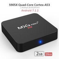 Wholesale Quad Internet - TV Box Android 7.1.2 Amlogic S905X 2G MXQ PRO 4K plus with 2.4GHz 5.8GHz WIFI Bluetooth KDMC17.3 2GB 16GB Internet TV Box