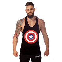 Wholesale Thin White Tank Tops Wholesale - Wholesale-Hot Punisher Thin Straps Professional Sports Vest Bodybuilding Fitness Training Cotton Golds Gym Men Tank Tops Undershirt Top