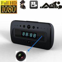 Wholesale Motion Detect Video - Spy camera V26 LCD Alarm clock Camera Night vison 1080P HD Hidden Cameras remote control Clock H.264 Video recorder motion detect