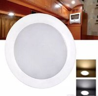 "Wholesale Rv Led Dome Lights - 127mm 5"" Dimmable LED Cabin Dome Light Blue Mood Ambiance Light Ultra Slim  Motorhome RV Lamp Roof LED Lamp Caravan Dome light MYY"
