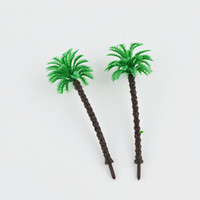 Wholesale Plastic Train Trees - 20pcs 45mm scale model palm trees architectural palstic model green tree trains layout
