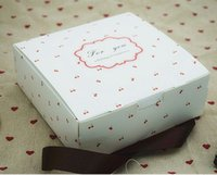 Wholesale Cupcake Cases Bulk - 14*14*5cm 25pcs Fruit pattern dotted white boxs, boxes for cupcakes , White kraft cardboard box, bulk gift cases