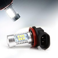 Wholesale H8 High Power Led Bulbs - DHL Free! 21W White H8 H11 850LM High Power CREE LED DRL Car Reserve Light LED Fog Driving Light Lamp Bulb 6000K