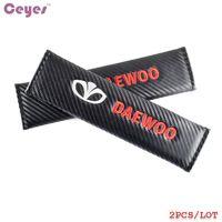 Wholesale Daewoo Kalos - Car Safety Belt Cover Carbon Fiber for Daewoo nexia matiz lonos nubira lacetti gentra kalos leganza Seat Belt Cover Car Styling 2pcs lot