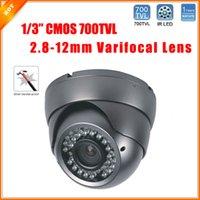 Wholesale Vandalproof Ir Color Camera - 1 3'' Color CMOS HD Camera 700TVL Dome Camera 36 IR LED Day Night Indoor Vandalproof Security Camera CCTV