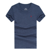 Wholesale Browning T Shirt Small - Small Horse Embroidery t shirt men brand clothing summer solid t-shirt male casual tshirt fashion mens short sleeve plus size