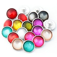 Wholesale European Cat Eye Beads - 100pcs Cat eye 12mm Button Ginger Snap Charms Jewelry Interchangeable Jewerly Charms Pendants Necklace Mixes 2016 Charms