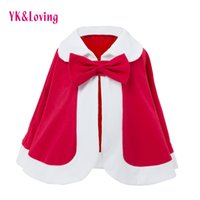 Wholesale Cute Toddler Girl Coats - Girls Autumn Winter Cloak Baby Coat 2018 New Year Clothes Christmas Kids Jacket Warm Cotton Outwear Children's Cape Toddler Infant Clothing