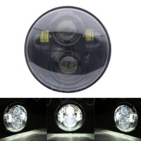 """Wholesale Hid Lights For Motorcycles - Headlight For Harley Davidson 883 1200 5-3 4"""" 5.75 Inch Motorcycle Projector Hi   Low HID LED Front Driving Headlamp Head Light"""