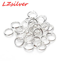 Wholesale Wholesale Silver Jump Rings - MIC 500 Pcs Jewelery Connectors Silver Plated 5mm Jump Rings Findings DIY Jewelry