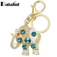 Wholesale car led for sale - Amazing Elephant Crystal Bag Pendant Purse Bag Buckle Trendy Key chains Holder Keyrings Keychains For Car K189