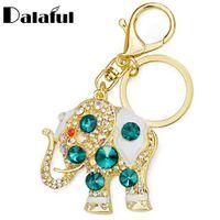 elefantenhalter groihandel-Erstaunliche Elefant Kristall Tasche Anhänger Handtasche Tasche Schnalle Trendy Schlüsselanhänger Halter Schlüsselanhänger Schlüsselanhänger für Auto K189