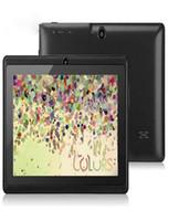 tablette vierkern 16gb bluetooth großhandel-7 Zoll 7 Zoll A33 Quad Core Q88 Tablet Allwinner Android 4 4 KitKat Kapazitiv 1 5GHz DDR3 512MB RAM 4 GB ROM Dual-Kamera-Taschenlampe A23 MQ100