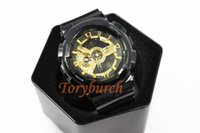Wholesale Light Blue Tags - #5 black gold GA110 Top quality relogio men's sports watches,Luxury brand men watch LED chronograph wristwatch,all pointers work auto light