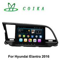 Wholesale Car Auto Stereo Gps - 9 Inch 1024*600 Android Auto Stereo Car DVD For Hyundai Elantra 2016 GPS Navigation WIFI 3G OBD DVR Mirror Phone Quad Core 1.6GHZ 16G ROM