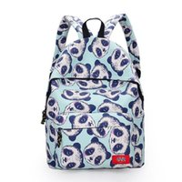 Wholesale Panda Shoulder Bag Black - women fashion backpack printing backpacks Nice unisex canvas panda backpack school bags for teenagers students shoulder bag