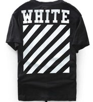 Wholesale El Panel Flashing - best edition 2016 Off-White CO men short sleeve tshirt tee off white virgil abloh t shirt tee kanye west t-shirt striped
