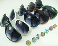 Wholesale Charming Sunglasses - 8 colors Fashion mash up DIY Outdoor Sunglasses fit Chunks Alloy Snap Button charm accessories noosa Sunglasses wholesale