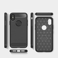 Carbon Fiber gebürstet Silicon Case Slim Soft Anti-Rutsch für iPhone X 8 7 6S Samsung S8 plus Hinweis 8 J3 J5 J7 OppBag