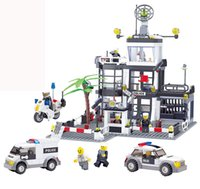 Wholesale Toy Police Stations - Delo toys Plastic building blocks self-assembly toys for children police station play set boy birthday gift without package box JJ000002