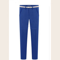 Wholesale Cargo Pants Cheapest - Cheapest Pants New Fashion Big Yards Casual Feet Pants Blue