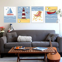 Modern Summer Beach Ocean Lighthouse Seascape A4 Stampa Poster Grande Poster Nautica Immagine Canvas Pittura No Frame Home Deco