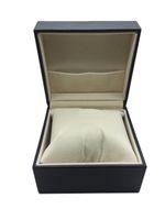 Wholesale Carbon Fiber Storage Boxes - Watch Shop buy Black Leather carbon fiber pu watch box with pillow velvet display storage customize print logo for 100pcs caja regalo reloj