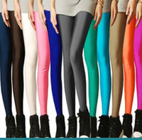 Wholesale Plus Size Neon Leggings - hot sale Sexy Solid Candy Neon Plus Size Women's Leggings High Stretched Gym Yoga Sports Jeggings Fitness Clothing Ballet Dancing Pant
