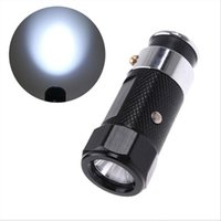 LED Rechargable Car Cigarette Lighter Lanterna Torch luz de flash de liga de alumínio 3 modos H1386B