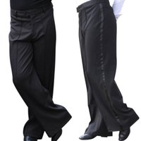 Wholesale Mens Professional Pants - Wholesale Men's Dance Pants Professional Mens Latin Dance Trousers Performance Stage Pants Modern Ballroom Dance Costumes UA0070 kevinstyle
