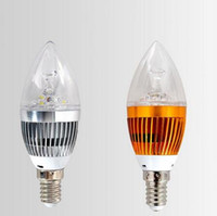 Wholesale High Power Led Candelabra Bulbs - Hot Sale High Qaulity E27 3W 5W E14 E27 Pure Warm White Dimmable LED Gold Candelabra Chandelier Candle Light Bulb