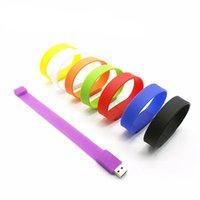 Cadeau promotionnel PVC Barcelet USB Flash Drive Memory Stick 1GB 2GB 4GB 8GB 16g Silicone Wristband PenDrives