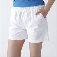 Wholesale Low Candy Colors - 2016 New Arrive Women Ladies Candy Colors Shorts Summer Elastic Waist Female Sport Cotton Short Pants WK5005