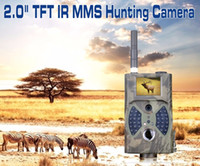 Wholesale Outdoor Hd Mms - HD 1080P 12MP Hunting Trail Camera Video Scouting Infrared Game MMS GPRS for outdoor hunting Monitor