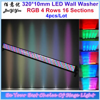 Lavado De Pared Color Led Baratos-Al por mayor-Disco DJ 320pcs * 10mm RGB LED Wall Washer Led Wash Wall Flood Bar RGB Color Mix DMX Controll Stage Bar Light
