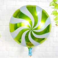 foil mylar cartoon balões venda por atacado-50 pçs / lote 18 polegadas Rodada foil ballon Colorido pirulito balões balões de alumínio dos desenhos animados mylar festa de aniversário fornecido balão de doces